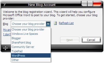 pilih blog anda!